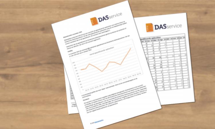 DAS-Service Markt Monitor December 2020: hoeveel opdrachten kwamen er op de DAS'en?