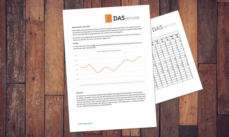 DAS-Service Markt Monitor maart 2021: hoeveel opdrachten kwamen er op de DAS'en?